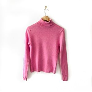 100% cashmere • pink turtle neck long sleeve